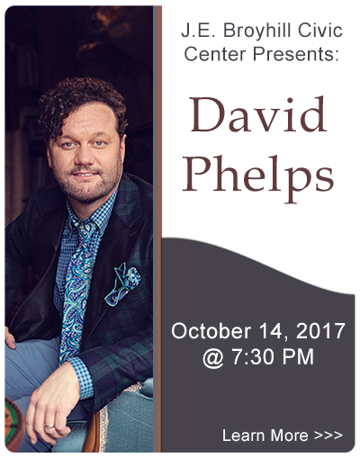 JE Broyhill Civic Center presents David Phelps in concert